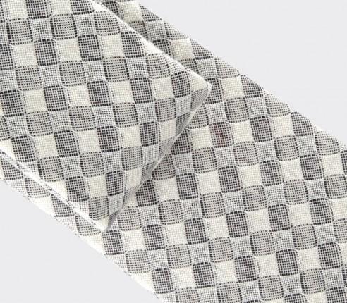 cravate vichy blanc - coton et soie - cinabre paris