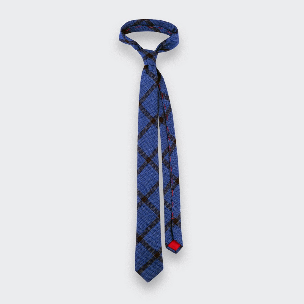 blue sperone tie - wool and silk - cinabre paris