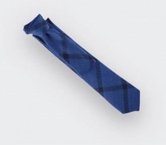 cravate sperone bleu - laine & soie - cinabre paris