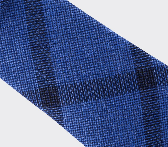 blue sperone tie - wool and silk - cinabre paris