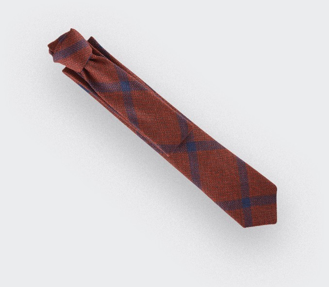 red sperone tie - wool and silk - cinabre paris