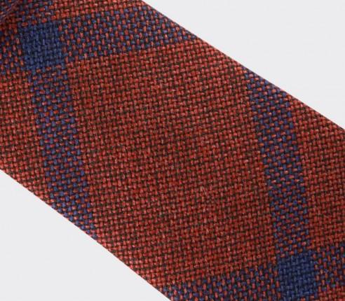 cravate sperone rouge - laine et soie - cinabre paris