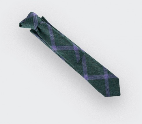green sperone tie - wool and silk - cinabre paris