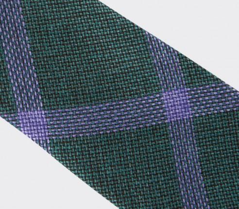 cravate sperone vert - laine et soie - cinabre paris