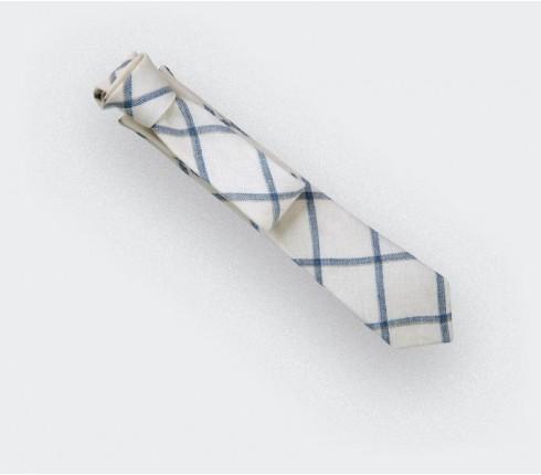 white agay tie - linen - cinabre paris