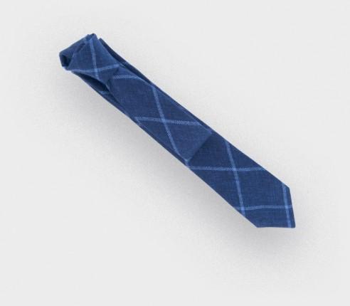 navy agay tie - linen - cinabre paris