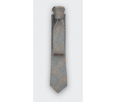 cravate agay gris - lin - cinabre paris