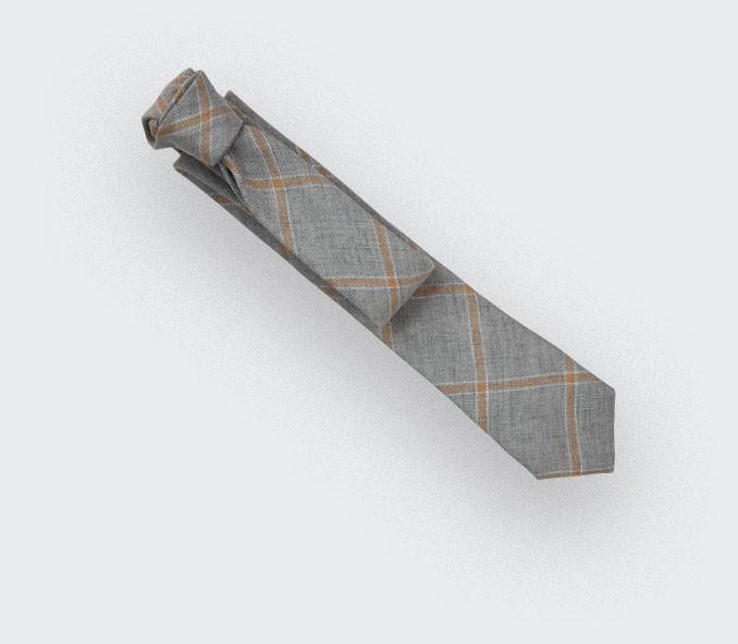 grey agay tie - linen - cinabre paris