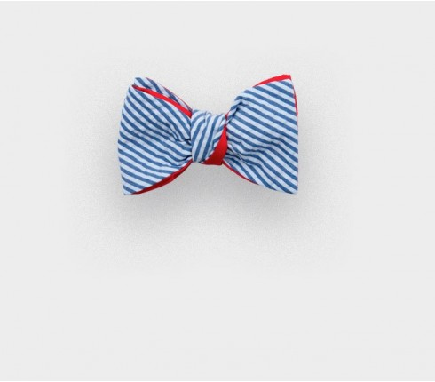 boys bow tie seersucker - silk cotton - cinabre paris