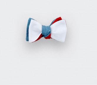 noeud papillon enfant piqué blanc - coton soie - cinabre paris