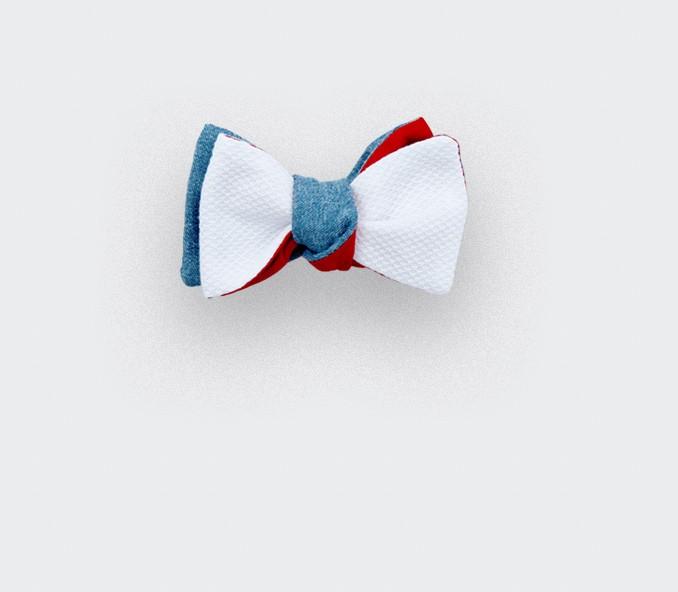 boys bow tie white piqué - made in france - cinabre paris