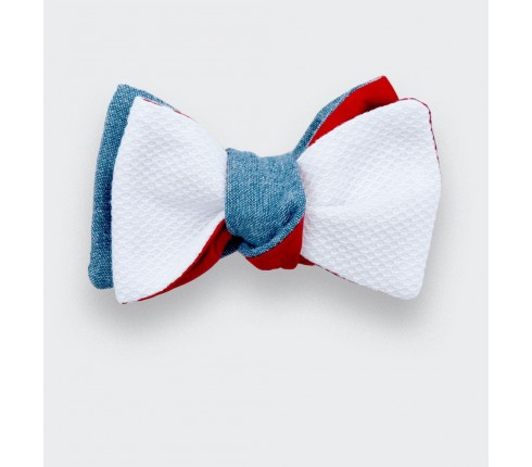 boys bow tie white piqué - made in france - cinabre paris