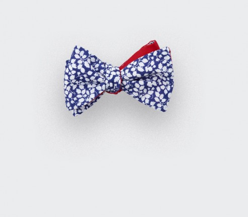 noeud papillon enfant liberty bleu blanc - cinabre paris