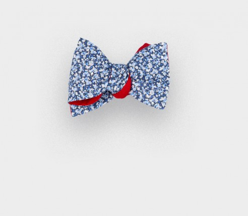 boys bow tie liberty blue pepper - cinabre paris
