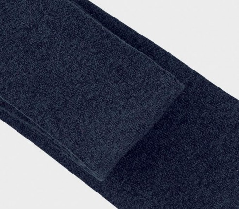 navy blue flannel tie - wool - cinabre paris