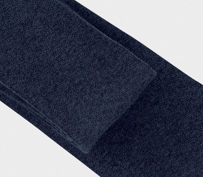 cravate flanelle bleu marine -  laine - cinabre paris