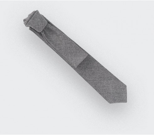 grey flannel tie - wool - cinabre paris