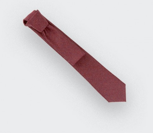 red flannel tie - wool - cinabre paris