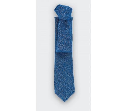 cravate 1001 Nuits Bleu - laine lurex doré - cinabre paris