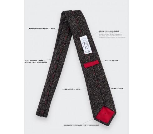tie gold 1001 Nuits black - lurex wool - cinabre paris