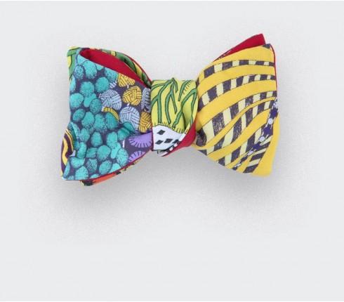 noeud papillon afro jade - coton et soie - cinabre paris