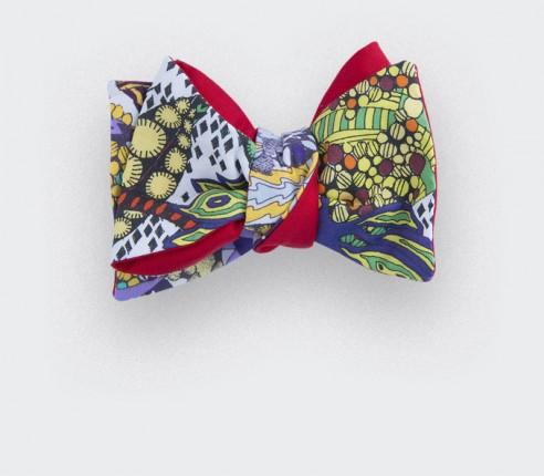 noeud papillon afro mutli-co - coton et soie - cinabre paris