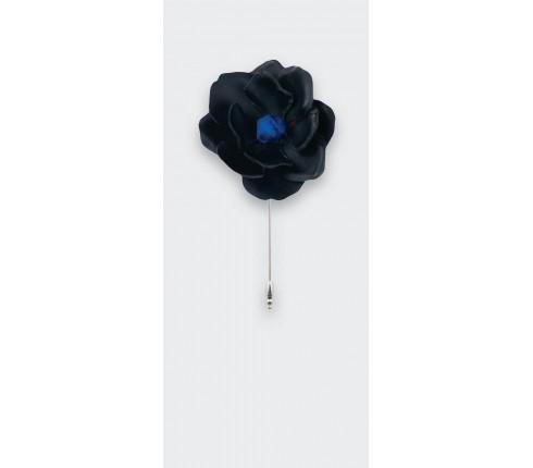 boutonnière cuir noir - cuir - cinabre paris