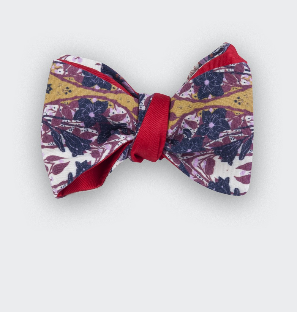 noeud papillon moutarde - coton and silk - cinabre paris