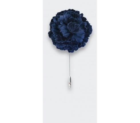 blue velvet flower lapel pin - cotton - cinabre paris