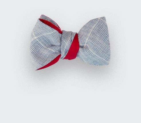 canage bow tie - linen and silk - cinabre paris