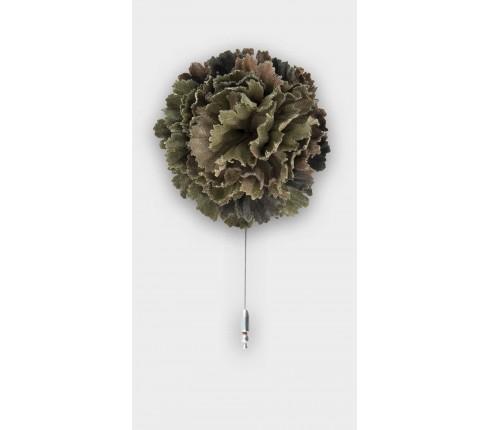 boutonnière camouflage - coton vintage - cinabre paris