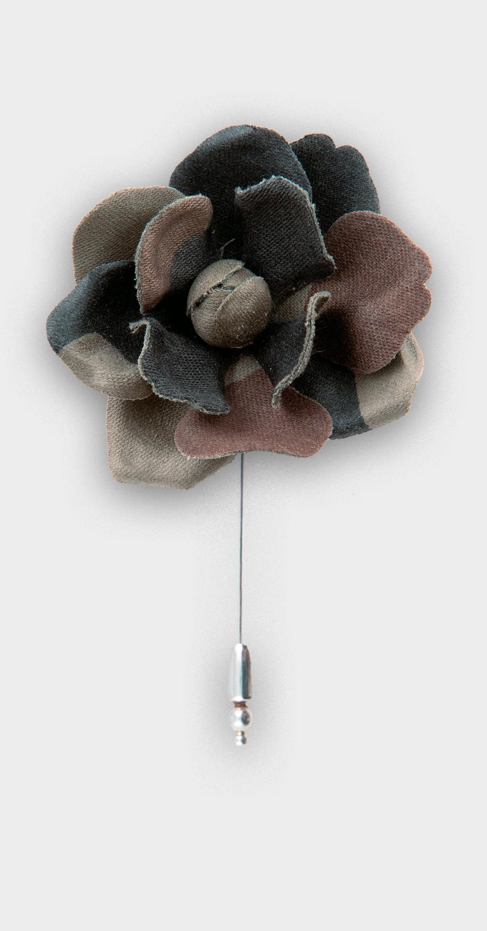 boutonnière S camouflage - coton vintage - cinabre paris
