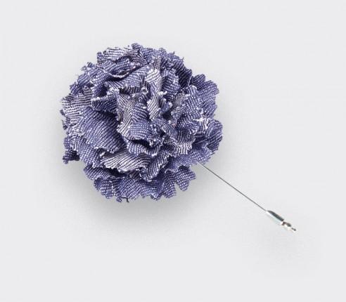 US navy lapel pin flower - vintage cotton - cinabre paris