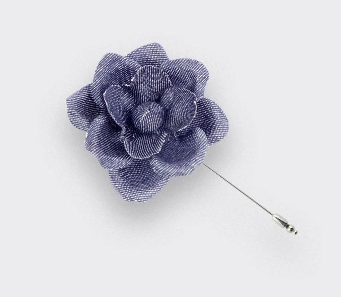 US navy lapel pin flower S - vintage cotton - cinabre paris