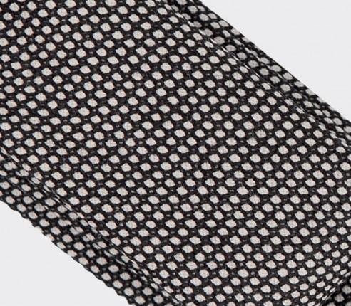 cravate caviar noir et blanc - laine - cinabre paris