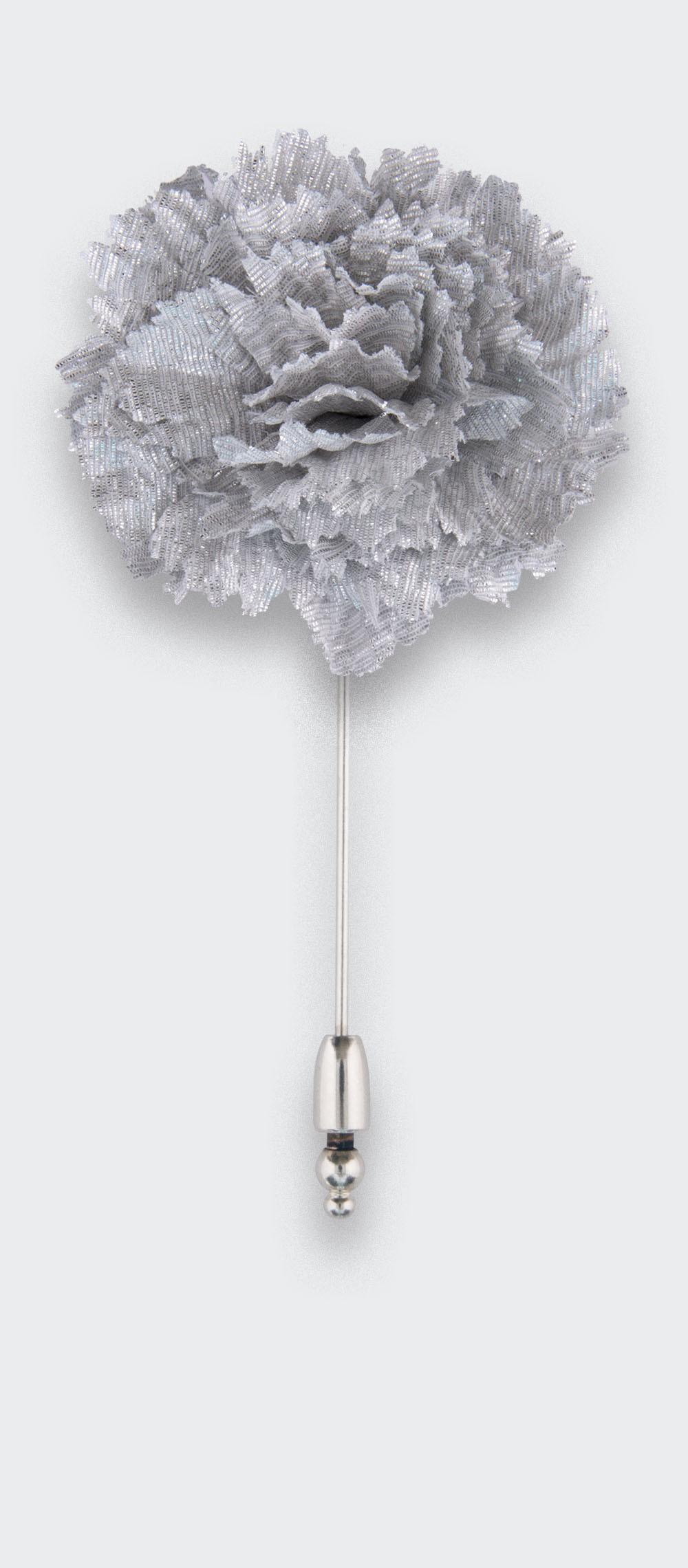 boutonniere costume silver - oeillet coton et lurex - cinabre paris