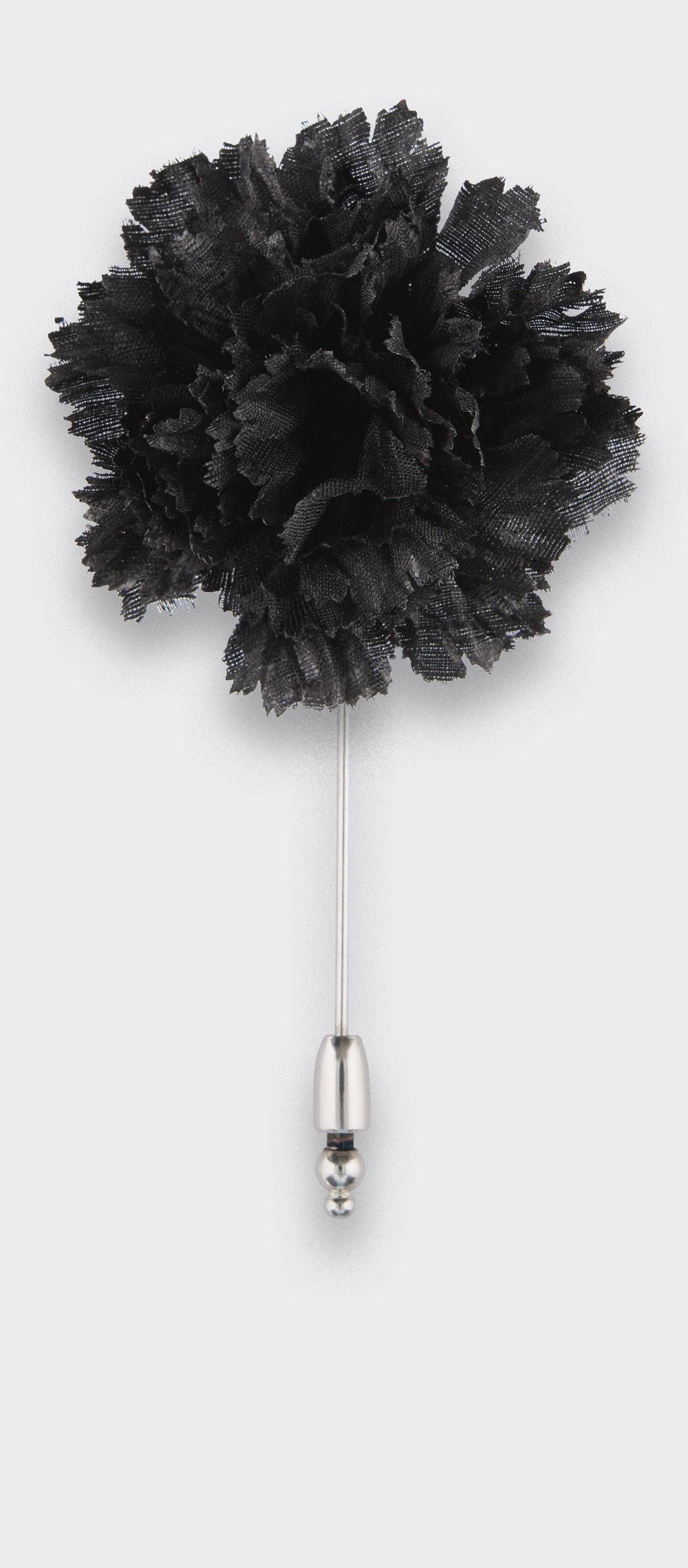 boutonnière costume soie noir - oeillet soie - cinabre paris