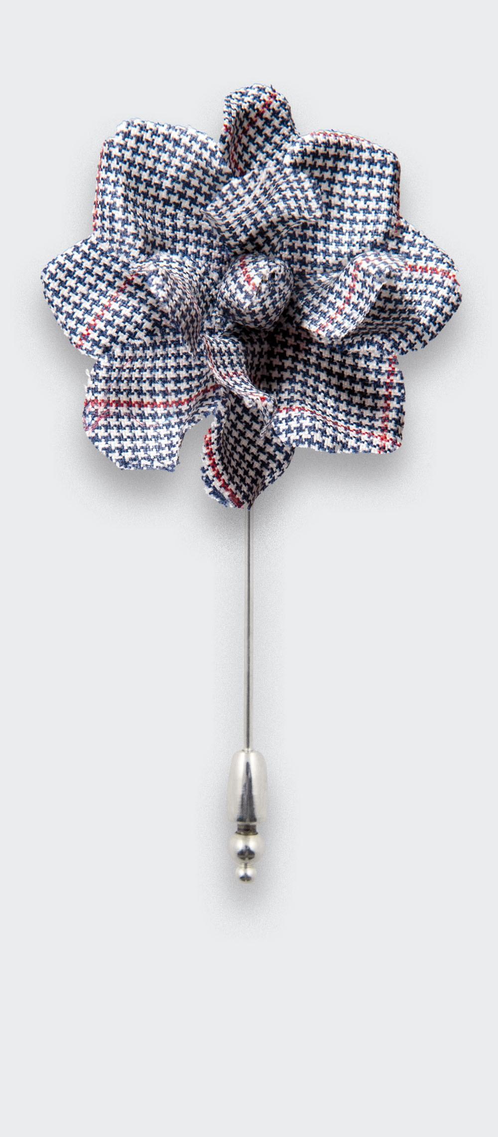 flower lapel pin summer solent - boutonniere wool - cinabre paris