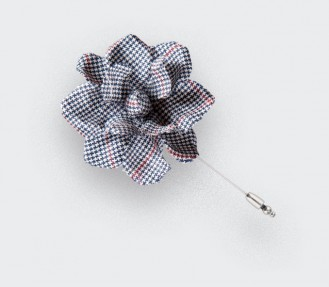 flower lapel pin summer solent - boutonniere wool - cinabre paris
