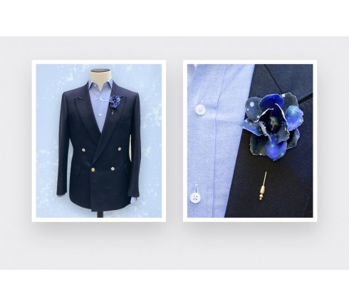 Boutonnière pour costume Constellation - Cinabre Paris