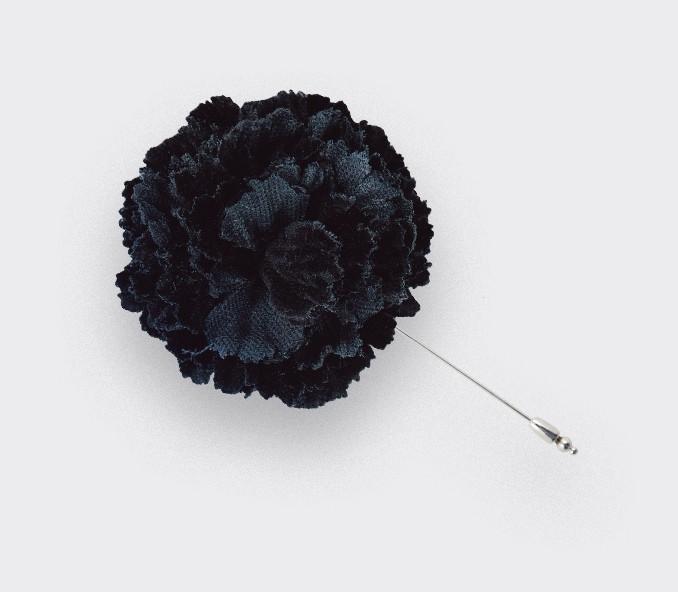 boutonnière costume velours noir - oeillet coton - cinabre paris