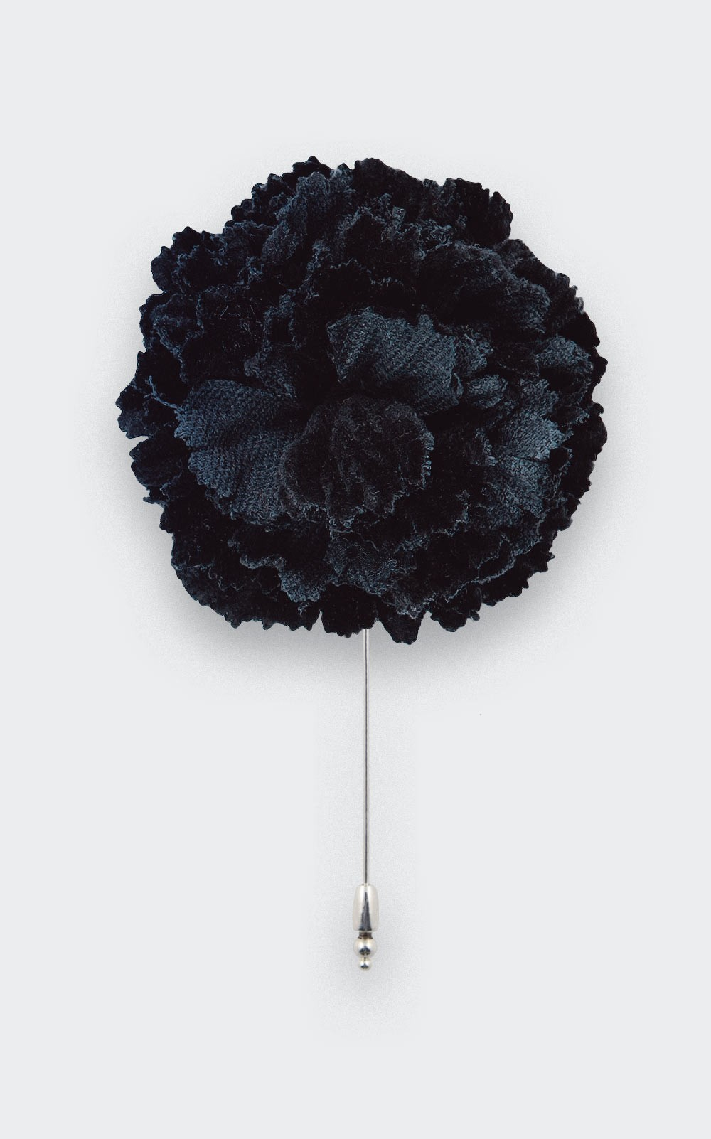 flower lapel pin black velvet- cotton - cinabre paris
