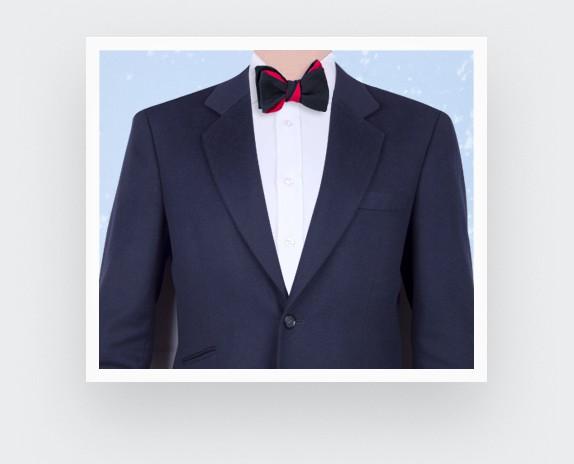 Bow Tie Maille Noir
