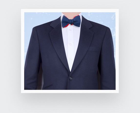CINABRE Paris - Bow Tie - Bleu Cosmique - Made in France