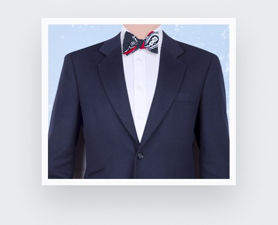 blue night bow tie - cotton - cinabre paris