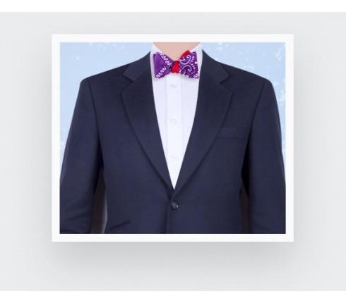 noeud papillon bandana violet - coton - cinabre paris