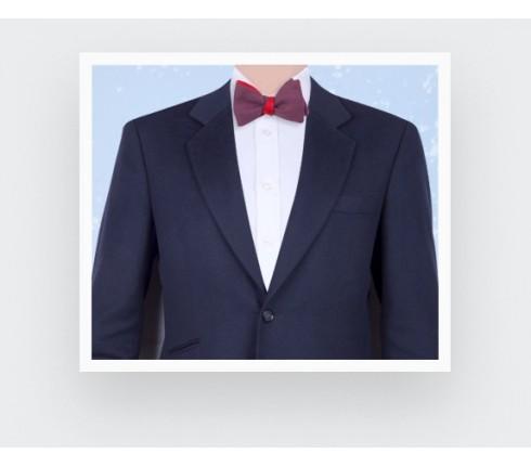 Fuchsia Maille Bow Tie - wool - Cinabre Paris