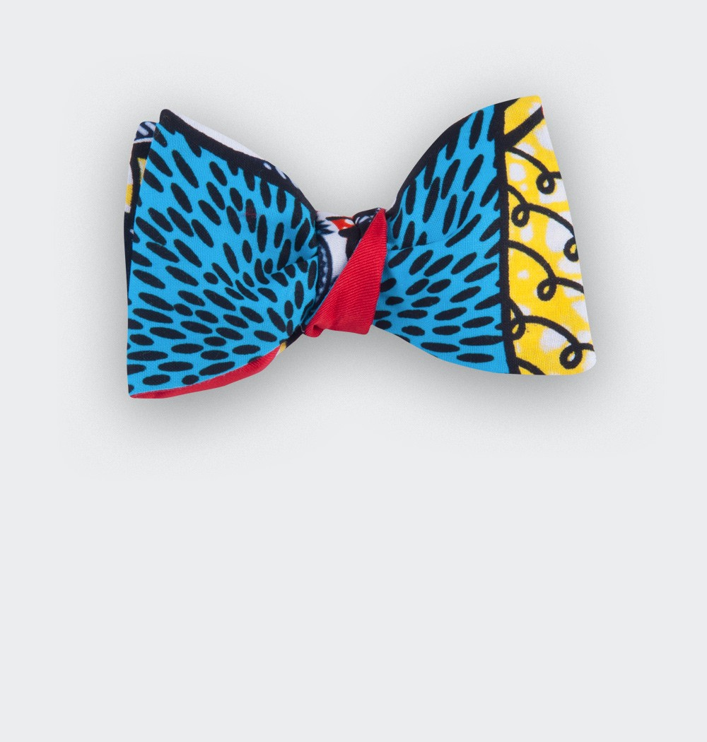 Turquoise Wax Bow Tie - Cinabre Paris