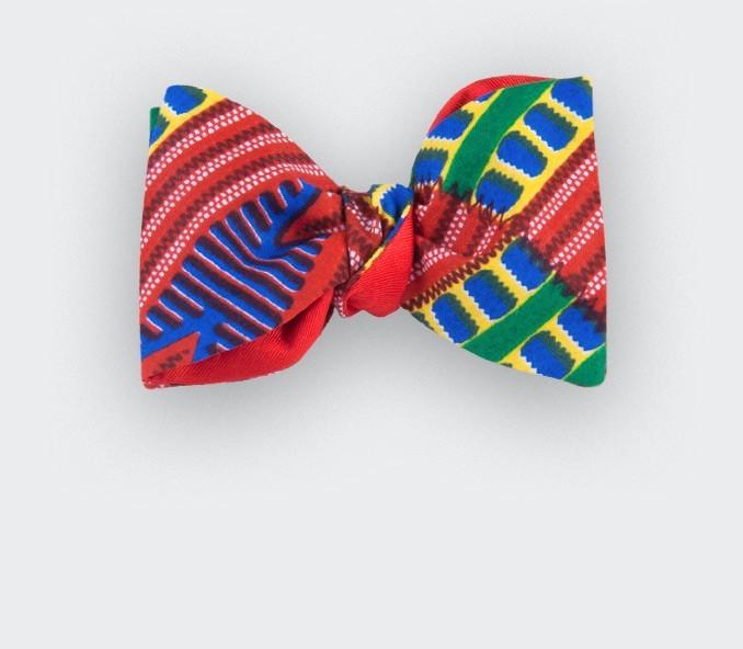 5dc1b5ef0 Red Wax Bow tie - cotton and silk - CINABRE Paris