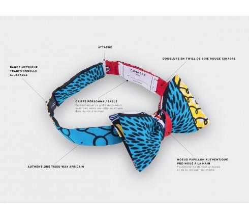 Turquoise Wax Bow Tie - Cinabre Paris